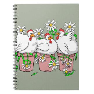 Ein Huhn in jedem Topf Spiral Notizblock