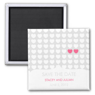 Ein im Million Herz-Save the Date Magneten Quadratischer Magnet