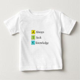 ein immer Wissen s-Suchvorganges k Baby T-shirt
