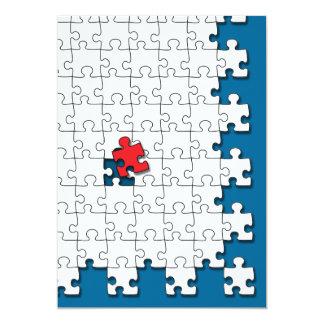 Ein in 110 - Autismus-Bewusstsein 12,7 X 17,8 Cm Einladungskarte