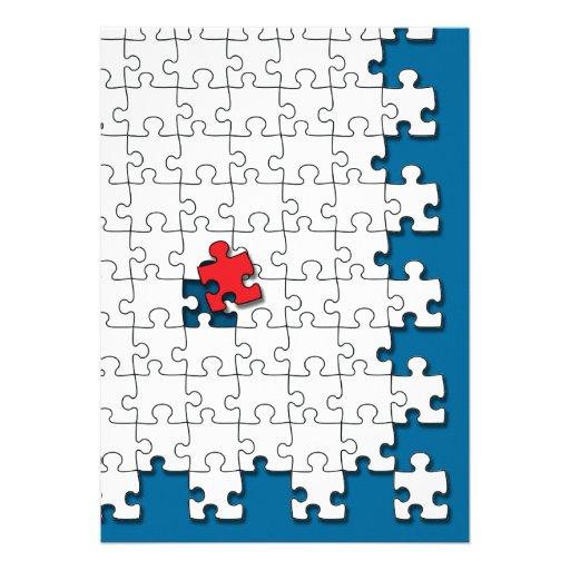 Ein in 110 - Autismus-Bewusstsein Individuelle Einladungen