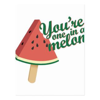 Ein in der Melone Postkarte