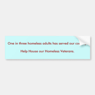 Ein in drei obdachlosen Erwachsenen hat unser cou… Autoaufkleber