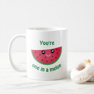 Ein in einer Melone lustigen niedlichen Kawaii Kaffeetasse