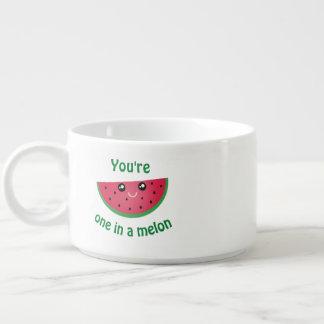 Ein in einer Melone lustigen niedlichen Kawaii Kleine Suppentasse
