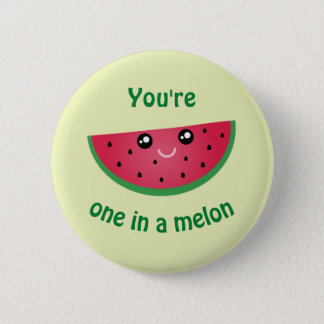 Ein in einer Melone lustigen niedlichen Kawaii Runder Button 5,7 Cm