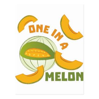 Ein in einer Melone Postkarte