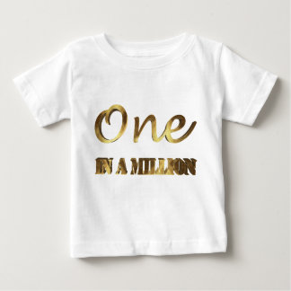 Ein in Million eleganter Goldbrown-Typografie Baby T-shirt