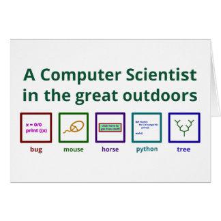Ein Informatiker in der freien Natur Karte
