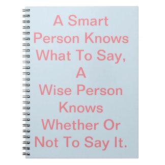 Ein intelligentes Person ~ Notizbuch Spiral Notizblock