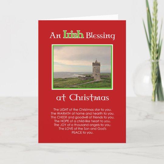 Frohe Weihnachten Irisch.Ein Irischer Segen An Der Weihnachten Gewohnheit Feiertagskarte