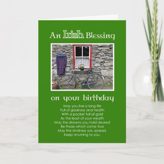 Ein Irischer Segen Auf Ihrem Geburtstag Karte Zazzlede