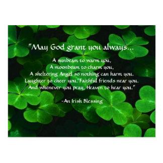 Ein irischer Segen Postkarte