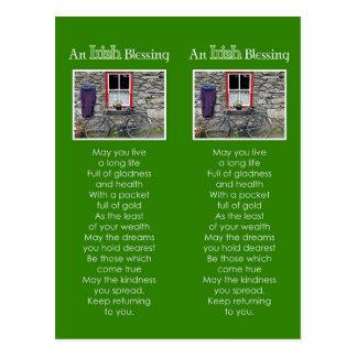 Ein irisches Segen-Lesezeichen Postkarte
