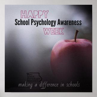 Ein ISPA Schulpsychologie-Wochen-Tür-Plakat Poster