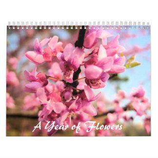 Ein Jahr des Blumen-Kalenders Abreißkalender