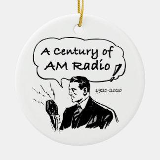 Ein Jahrhundert von morgens-Radio Keramik Ornament