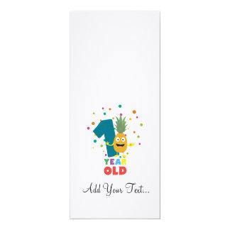 Ein Jährig-erstes Geburtstags-Party Zpuo7 10,2 X 23,5 Cm Einladungskarte