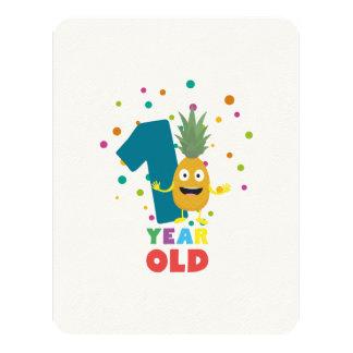 Ein Jährig-erstes Geburtstags-Party Zpuo7 10,8 X 14 Cm Einladungskarte