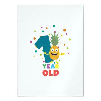 Ein Jährig-erstes Geburtstags-Party Zpuo7 11,4 X 15,9 Cm Einladungskarte