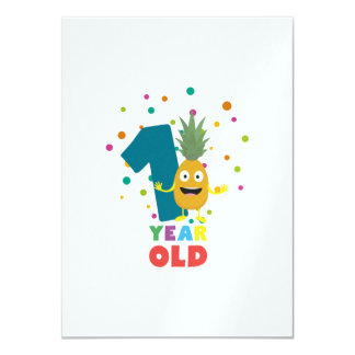 Ein Jährig-erstes Geburtstags-Party Zpuo7 Karte