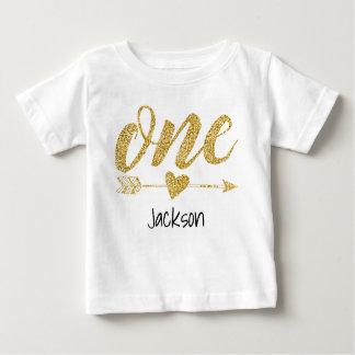 Ein jähriges personalisiertes baby t-shirt