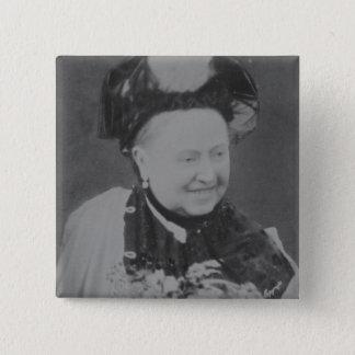 Ein Jubiläum-Porträt der Königin Victoria Quadratischer Button 5,1 Cm