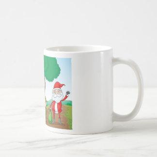 ein Junge und ein Weihnachtsmann Kaffeetasse