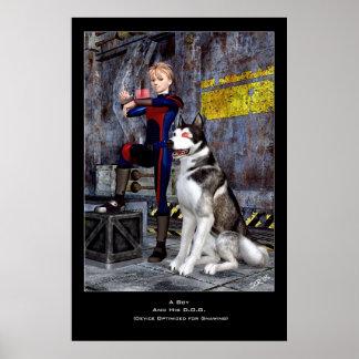 Ein Junge und sein D.O.G. Plakatdrucke