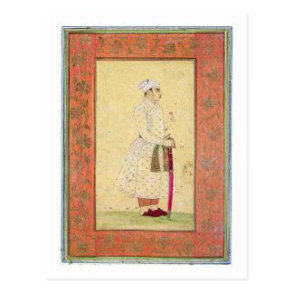Ein junger Adlig des Mughal Gerichtes, vom Lar Postkarte
