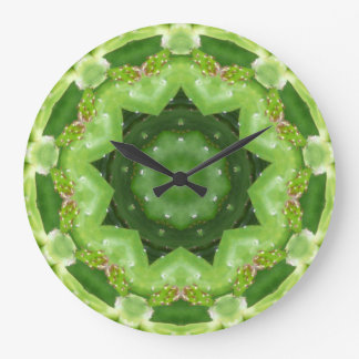 Ein Kaktus-Lager-Fraktal Große Wanduhr