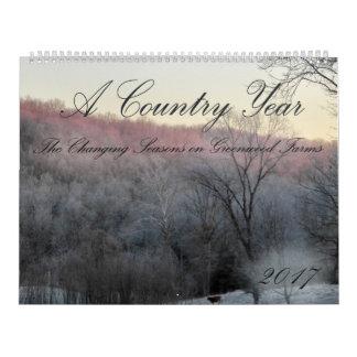 Ein Kalender des Land-Jahr-2017