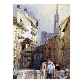 Ein Kanal in Straßburg Postkarte