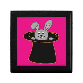 Ein Kaninchen im Hut Schmuckschachtel