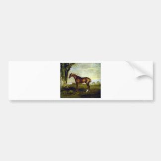 Ein Kastanien-Rennpferd durch George Stubbs Autoaufkleber