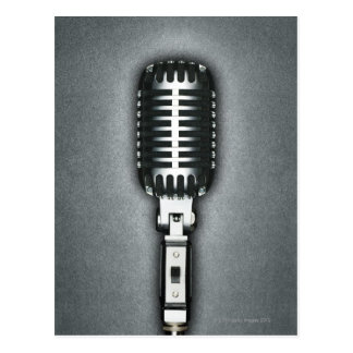 Ein klassisches Mikrofon Postkarte