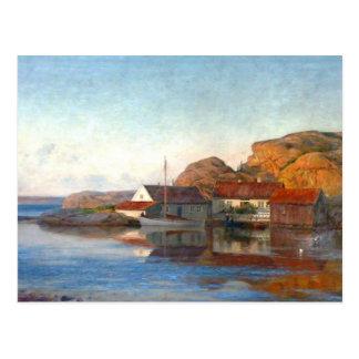 Ein kleiner norwegischer Einlass Postkarte