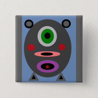 Ein kleines Piggy Quadratischer Button 5,1 Cm