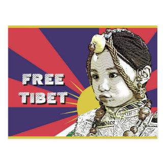 Ein kleines tibetanisches Mädchen RETTEN TIBET~! Postkarte