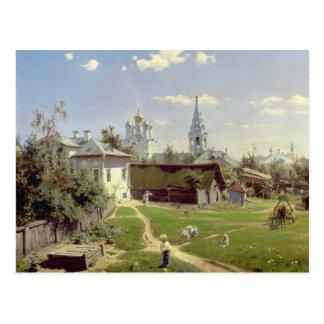 Ein kleines Yard in Moskau, 1878 Postkarte