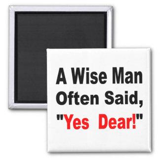 Ein kluger Mann sagte häufig ja liebes Quadratischer Magnet