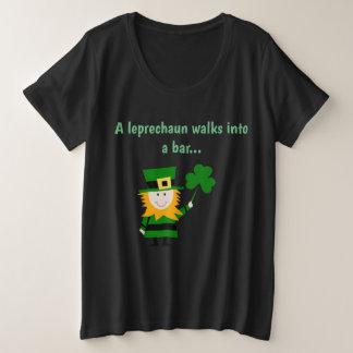 Ein Kobold geht in ein Bar plus Größen-Shirt Große Größe T-Shirt