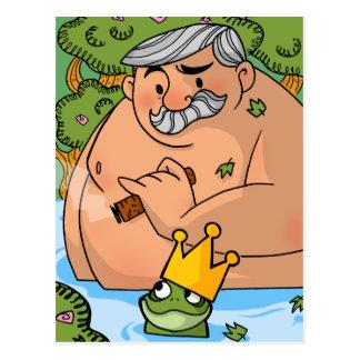 Ein König und ein Frosch Postkarte