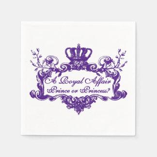 Ein königliches Angelegenheits-Geschlecht decken Papierservietten