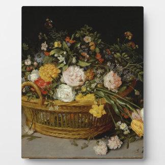 Ein Korb der Blumen - Jan. Brueghel das jüngere Fotoplatte