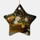 Ein Korb der Blumen - Jan. Brueghel das jüngere Keramik Ornament