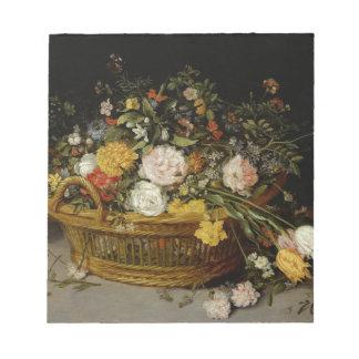 Ein Korb der Blumen - Jan. Brueghel das jüngere Notizblock
