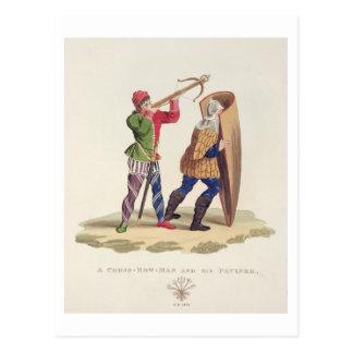 Ein Kreuz-Bogenschütze und sein Paviser, 1433, von Postkarte