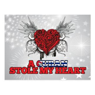 Ein Kubaner stahl mein Herz Postkarte
