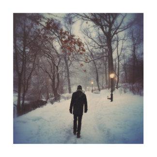 Ein kühler Weg im Central Park Holzwanddeko